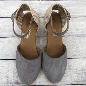 Paseart Espadrilles suede wedges heels 7 sandals